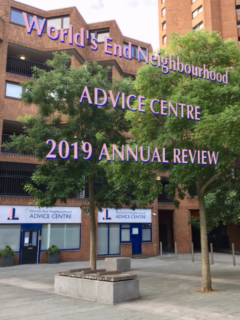 2019 Annual Review Cover picturing the Centre from the piazza